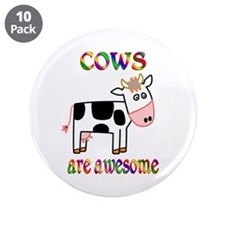 """Awesome Cows 3.5"""" Button (10 pack)"""