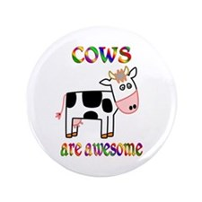 """Awesome Cows 3.5"""" Button (100 pack)"""