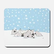 Keesie Snow Dogs Mousepad