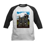 Medieval Knights & Castle Kids Baseball Jersey