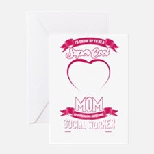 Super cool mom Greeting Cards