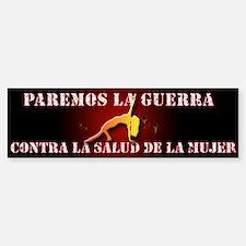 Stop War on WomensHealth Latino bumpersticke