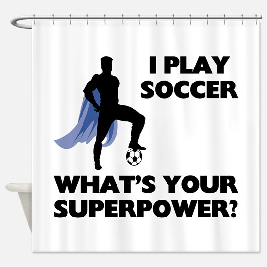 Soccer Superhero Shower Curtain
