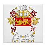 Van Lennep Coat of Arms Tile Coaster