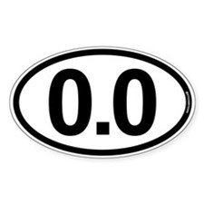 0.0 Zero Marathon Runner Stickers