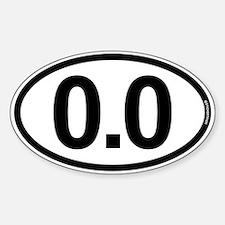 0.0 Zero Marathon Runner Stickers