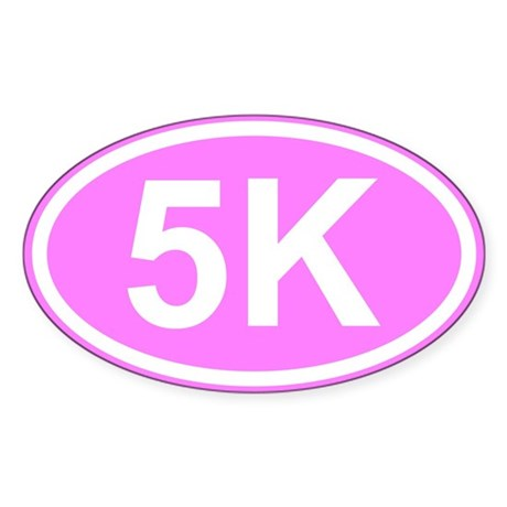 Pink 5K Sticker (Oval)