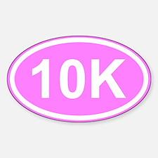 Pink 10K Sticker (Oval)