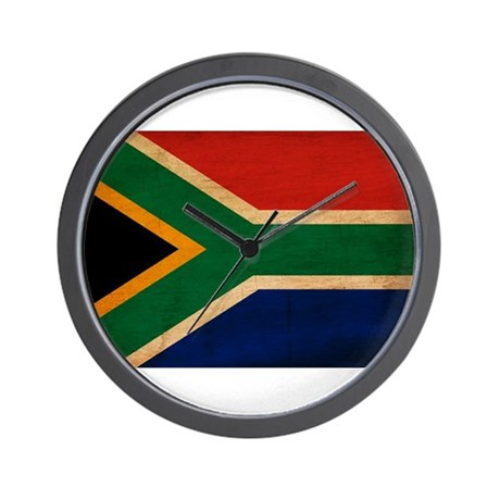 South africa flag wall clock by antiqueworldflags for Modern wall clocks south africa