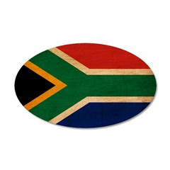 South Africa Flag 38.5 x 24.5 Oval Wall Peel