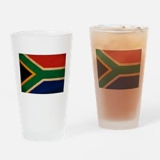South Africa Flag Drinking Glass