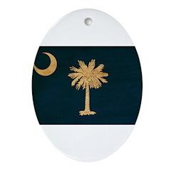 South Carolina Flag Ornament (Oval)