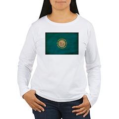 """South Dakota Flag"" Women's Long Sleeve T-Shirt"