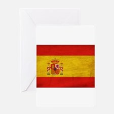 Spain Flag Greeting Card