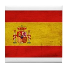 Spain Flag Tile Coaster