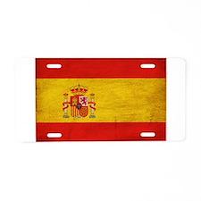 Spain Flag Aluminum License Plate