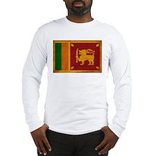 Sri Lanka Flag Long Sleeve T-Shirt