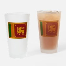 Sri Lanka Flag Drinking Glass
