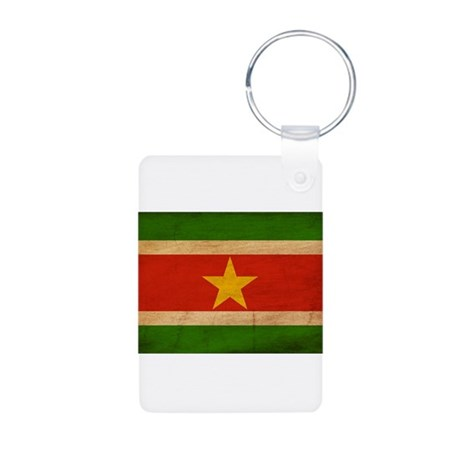 Suriname Flag Aluminum Photo Keychain
