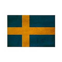 Sweden Flag Rectangle Magnet (100 pack)