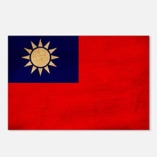 Taiwan Flag Postcards (Package of 8)