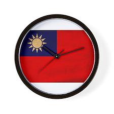 Taiwan Flag Wall Clock