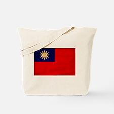 Taiwan Flag Tote Bag
