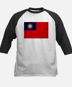Taiwan Flag Kids Baseball Jersey