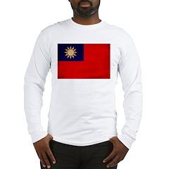 Taiwan Flag Long Sleeve T-Shirt