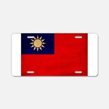 Taiwan Flag Aluminum License Plate