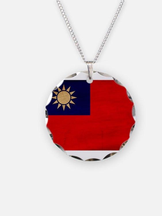 Taiwan Flag Necklace