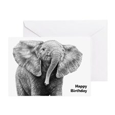 Baby African Elephant Greeting Card