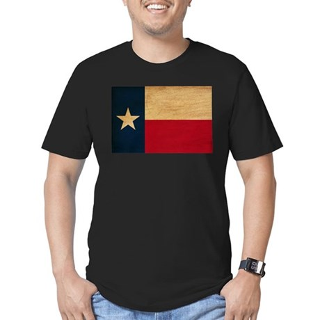 Texas Flag Men's Fitted T-Shirt (dark)