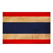 Thailand Flag Postcards (Package of 8)