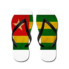 Togo Flag Flip Flops