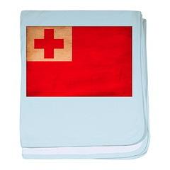 Tonga Flag baby blanket