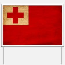 Tonga Flag Yard Sign