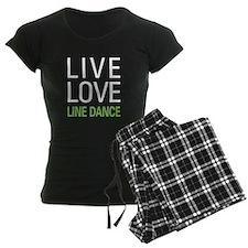Live Love Line Dance Pajamas