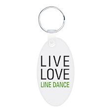 Live Love Line Dance Keychains