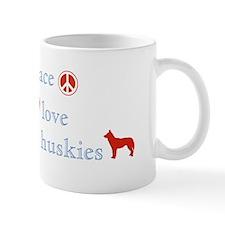 Peace, Love & Siberian Huskies Mug