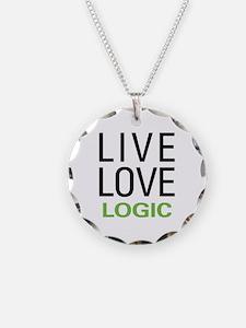 Live Love Logic Necklace Circle Charm