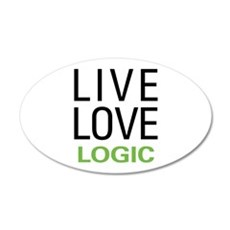 Live Love Logic 22x14 Oval Wall Peel