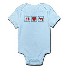 Peace, Love and Huskies Infant Bodysuit