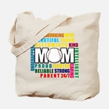 A Baseball Mom Tote Bag