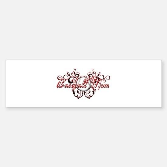 Baseball Mom (heart) Sticker (Bumper)