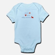 Peace, Love & Silky Terriers Infant Bodysuit
