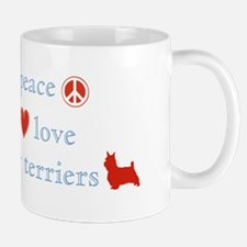 Peace, Love & Silky Terriers Mug