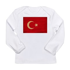 Turkey Flag Long Sleeve Infant T-Shirt