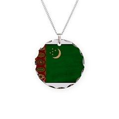 Turkmenistan Flag Necklace
