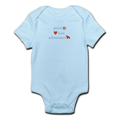 Peace, Love and Schnauzers Infant Bodysuit